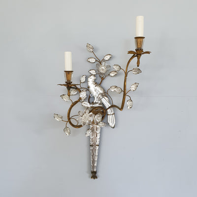 Pair of Bird Wall Sconces