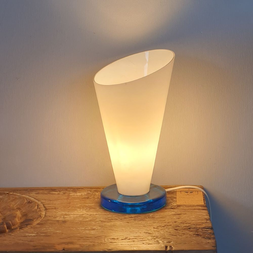 Conical Glass Table Lamp
