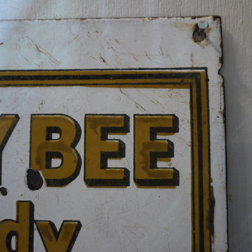 Honey Bee Enamel Sign