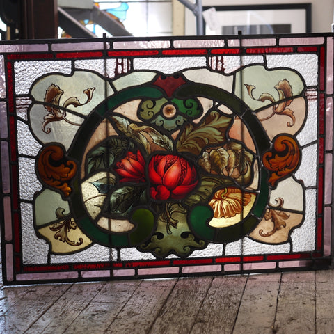 19thC Leadlight Panel