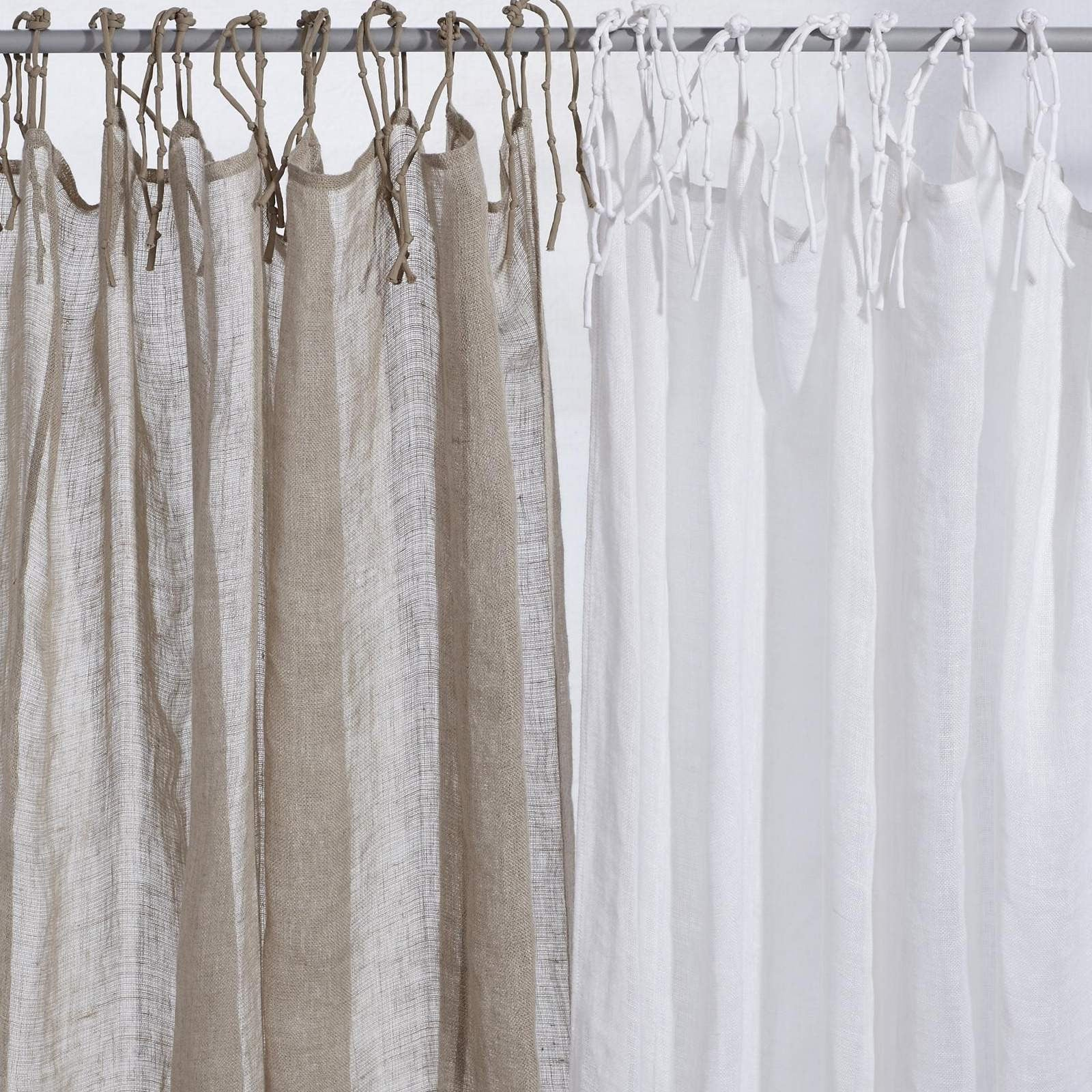 Natural or White Linen Curtains