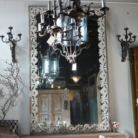 Large Fretwork Mirror