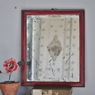 Red Painted Mirror