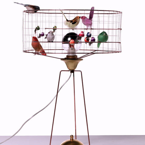French Bird Table Lamp-D