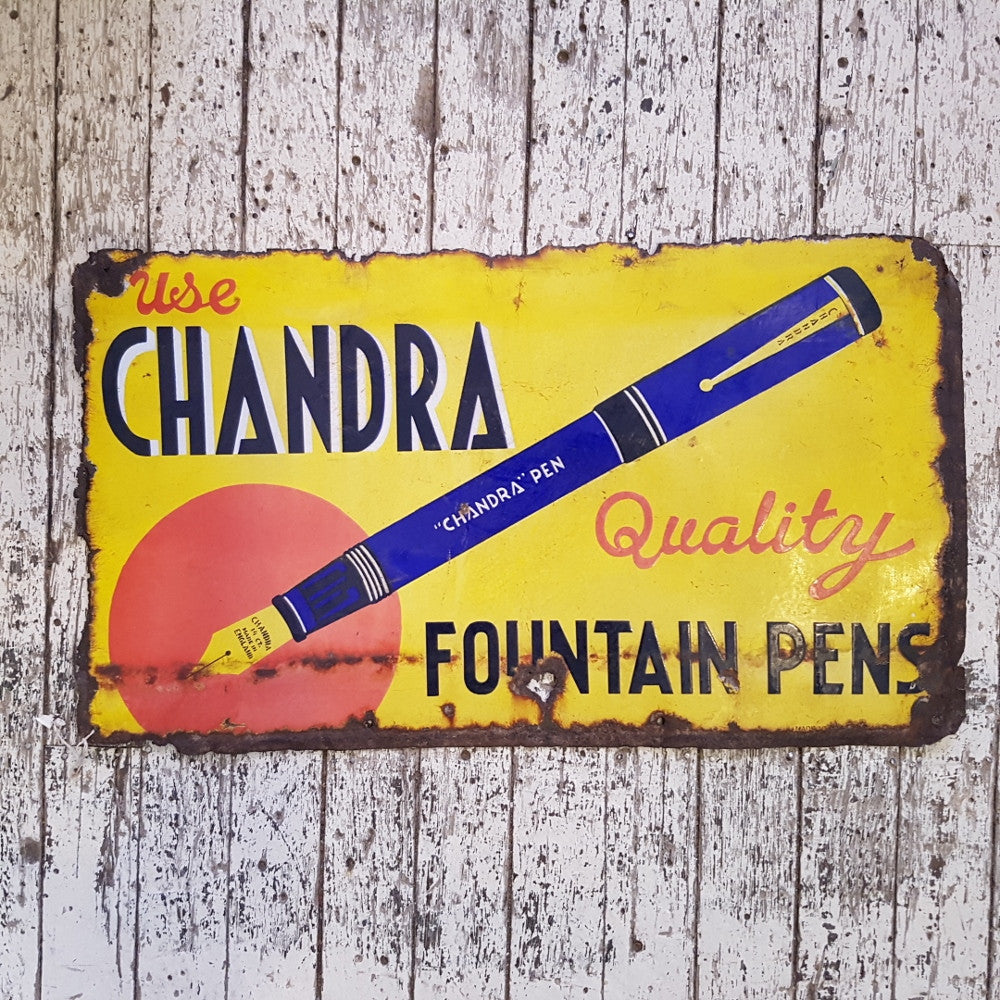 'Fountain' Pens Vintage Sign