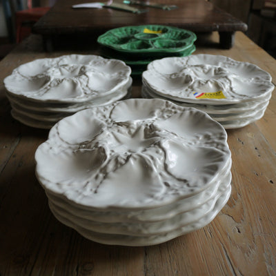French White Oyster Plates