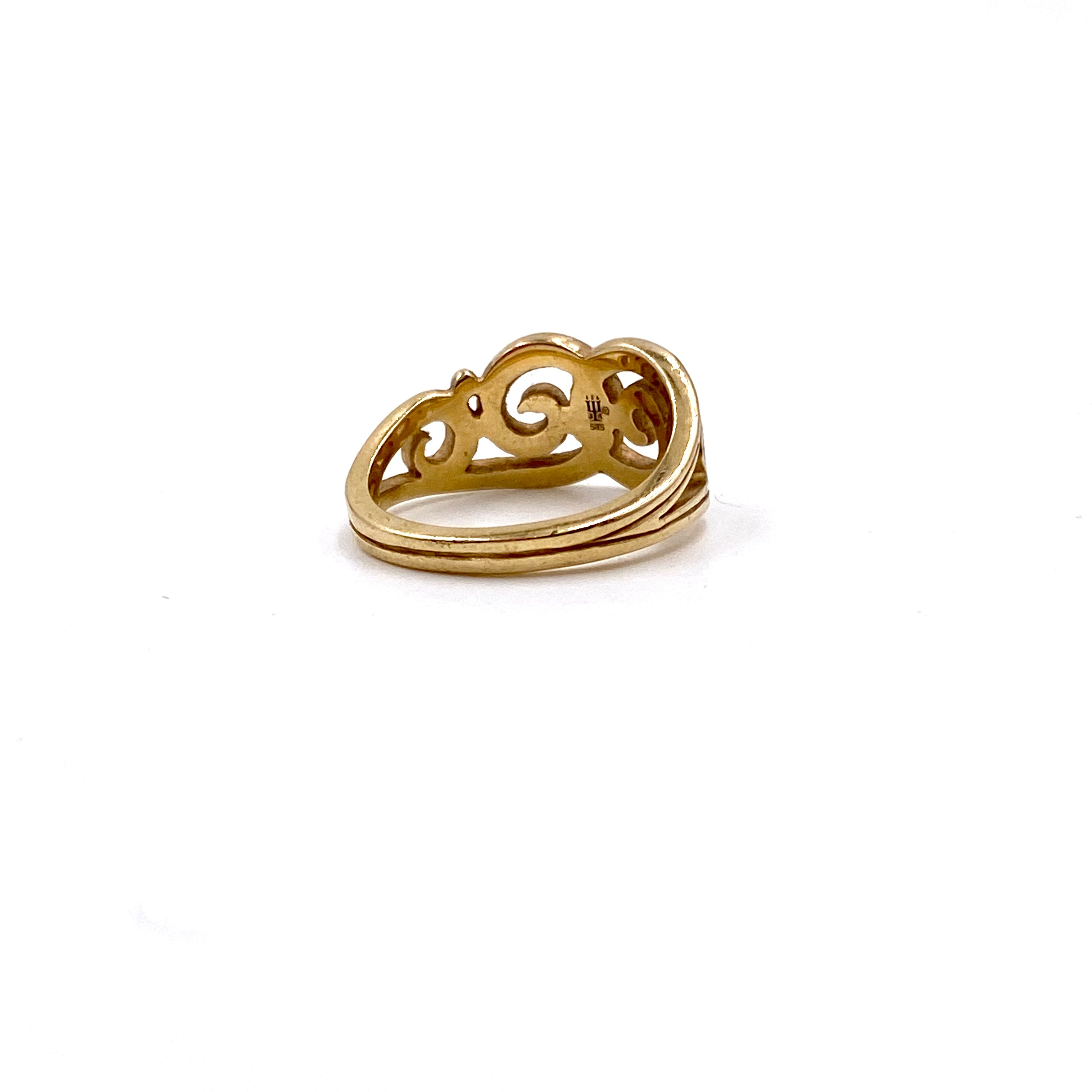 James Avery Retired Gentle Wave Beach Life Ring in 14K Yellow Gold