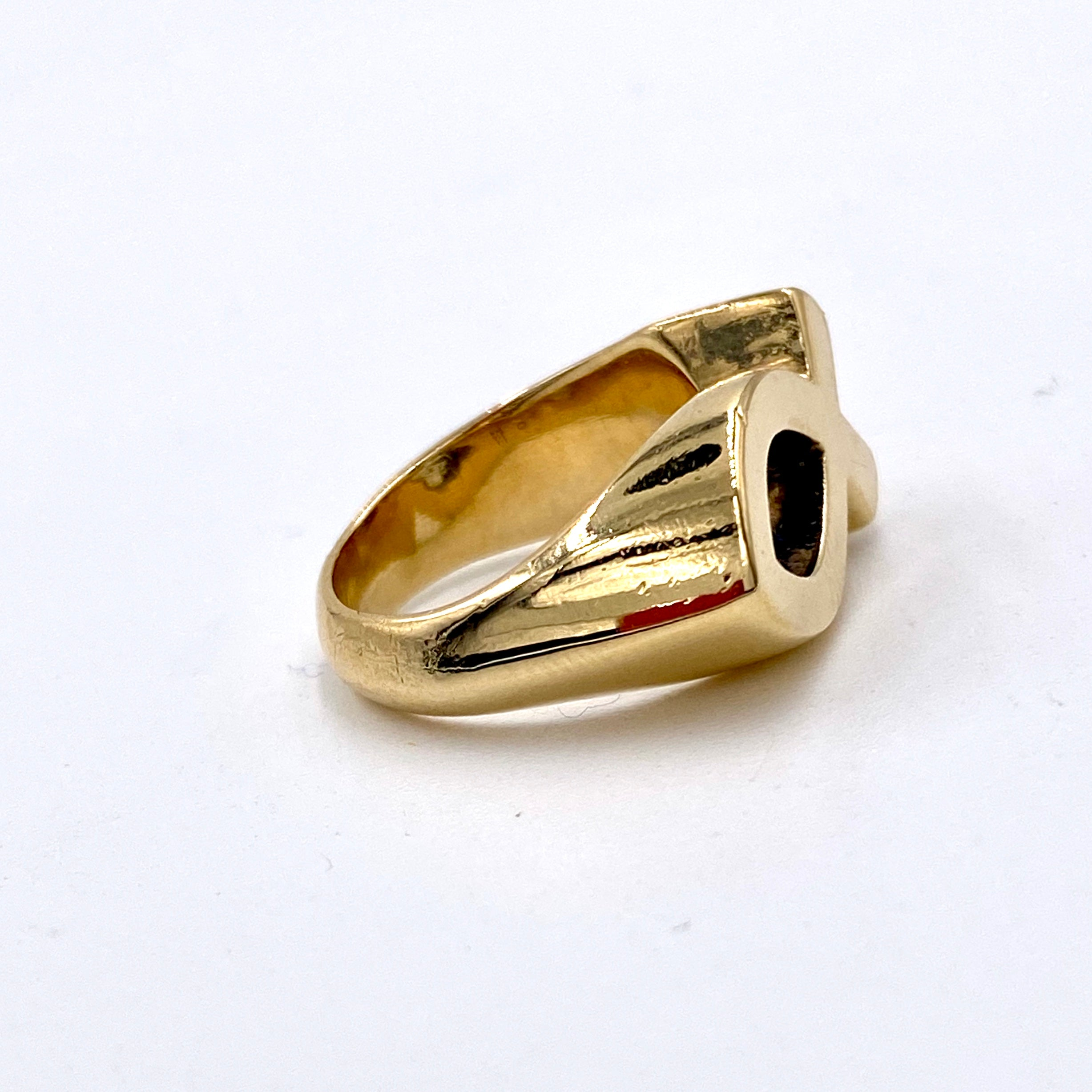 James Avery Ring Religious Jesus Fish Ichthus Hallmarked Retired 14K Yellow Gold