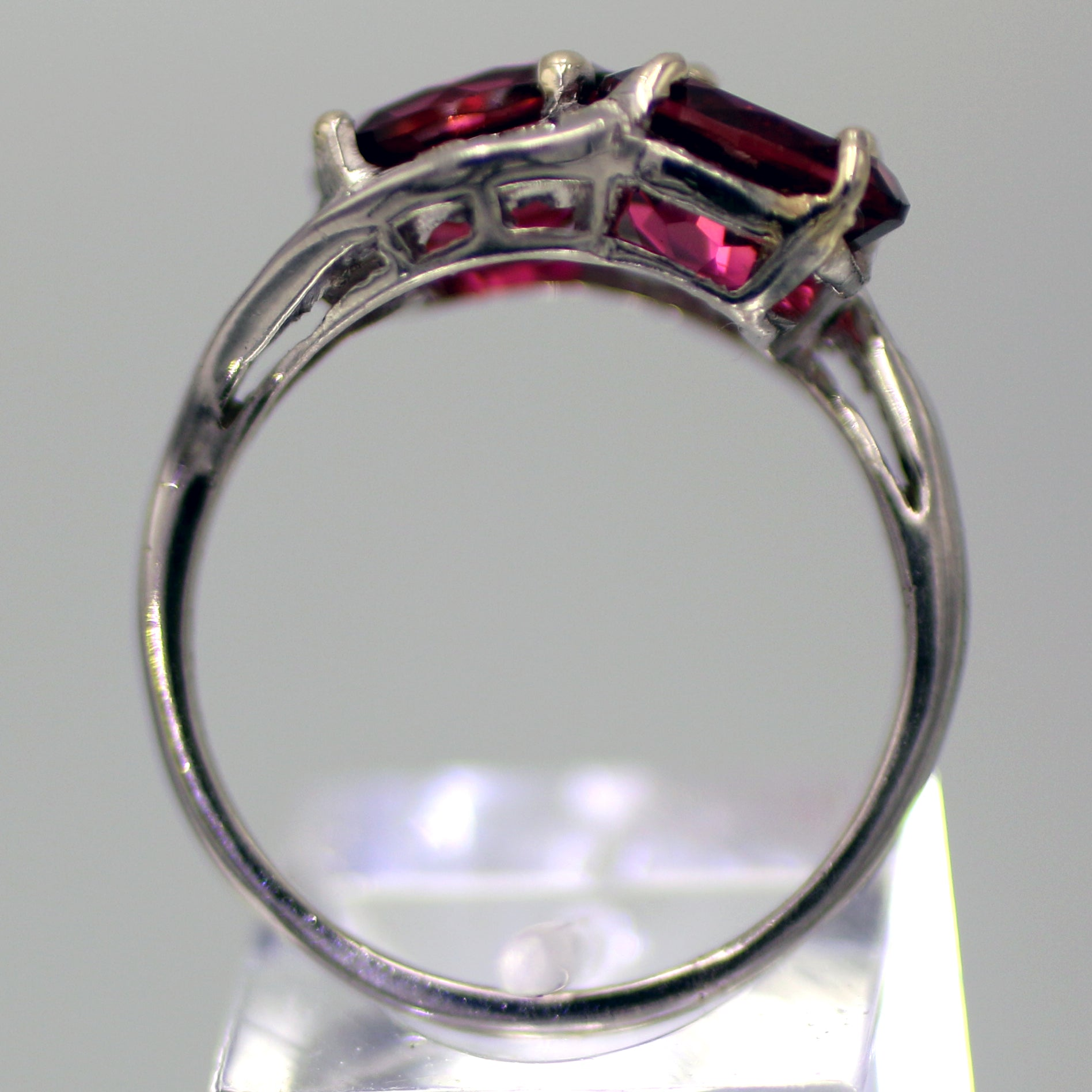 Retro Era 4 Carat Twin Tourmaline & Diamond Ring in Platinum
