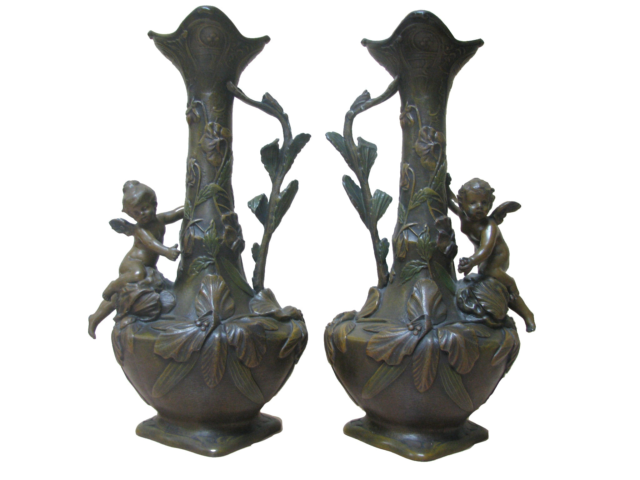 19th Century NeoClassical Water Pitchers By French Sculptor Louis Auguste Leveque