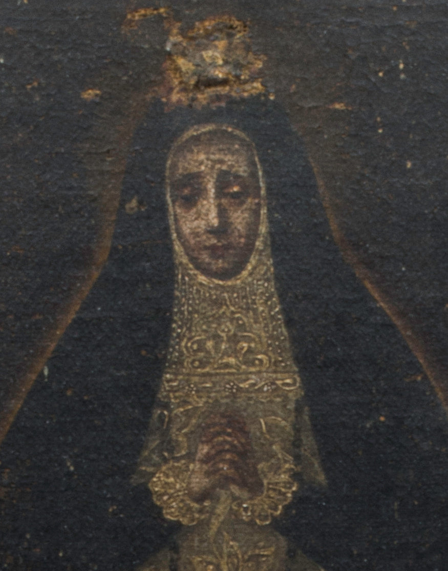Late 17th Century Spanish Retablo 'Our Lady Of Solitude'