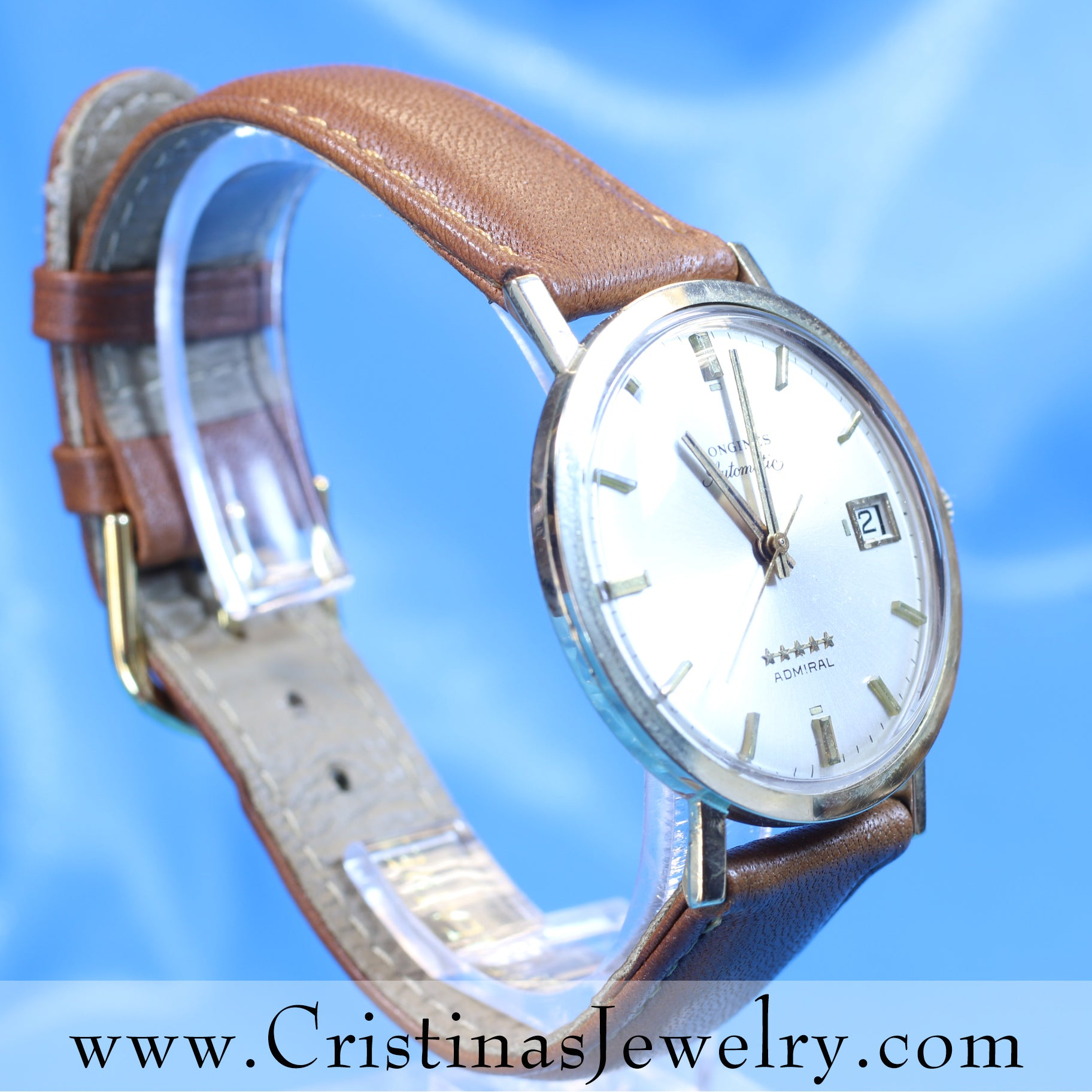 Vintage Longines 5 Star Admiral Automatic Precision Luxury Timepiece From 1972