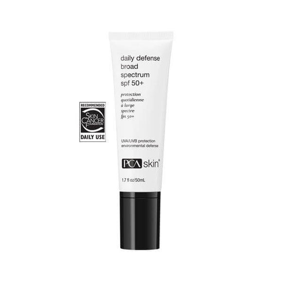 Tube of PCA Skin Daily Defense broad spectrum SPF 50+