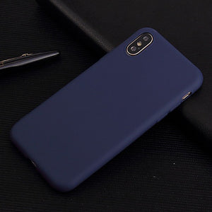 Shockproof Back Cover Solid Colored Soft (6 colors)
