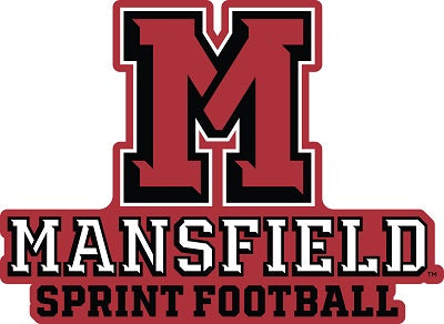 Athletic M Sprint Football Decal