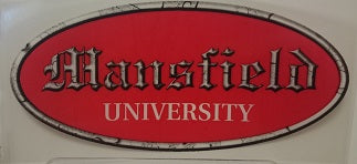 MANSFIELD UNIVERSITY DECAL IN OLD ENGLISH