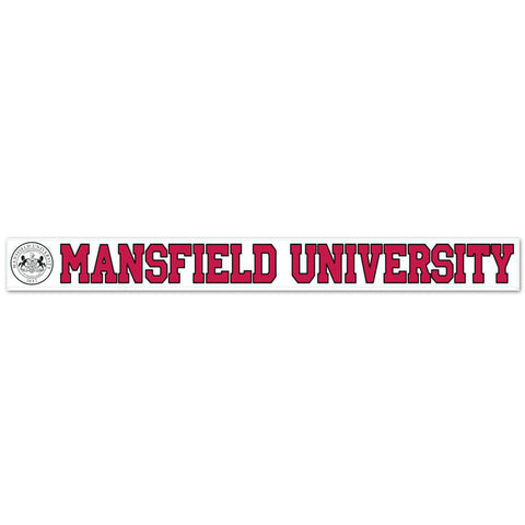 MANSFIELD UNIVERSITY WITH SEAL DECAL