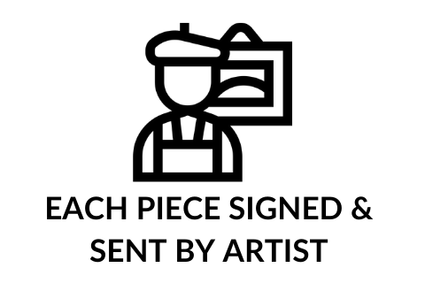 Each piece signed & sent by artist