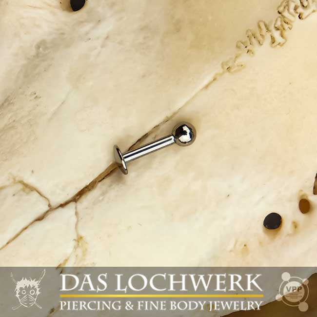 Internal Thread Labret mit Kugel 1.6mm