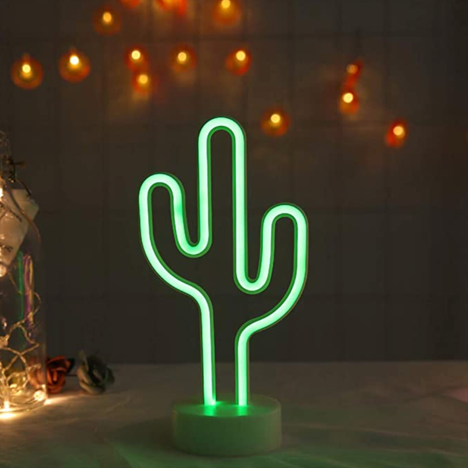Cactus Neon LED Desk Light