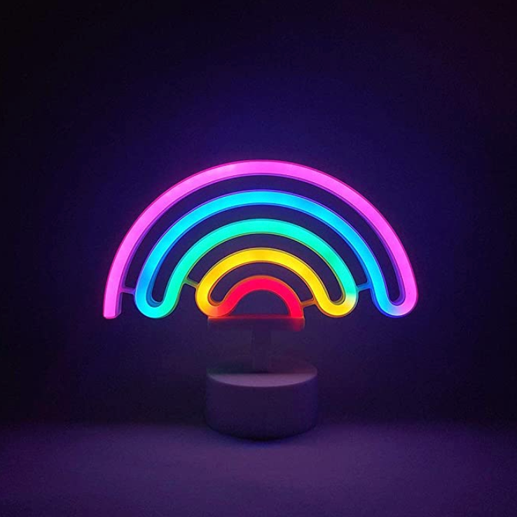 Rainbow Neon LED Desk Light