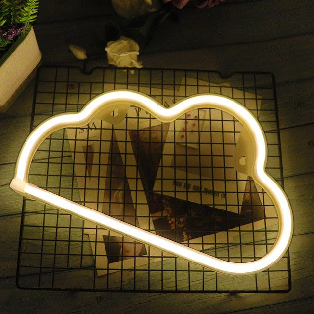 Gold Cloud Neon LED Wall Light