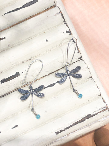 Coast2Coast Blue Dragonfly Dangle Earrings