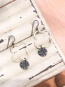Coast2Coast Gold Quatrefoil Dangle Earrings