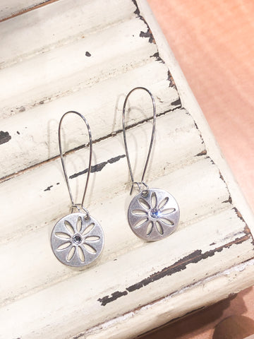 Coast2Coast Silver Flower Dangle Earrings