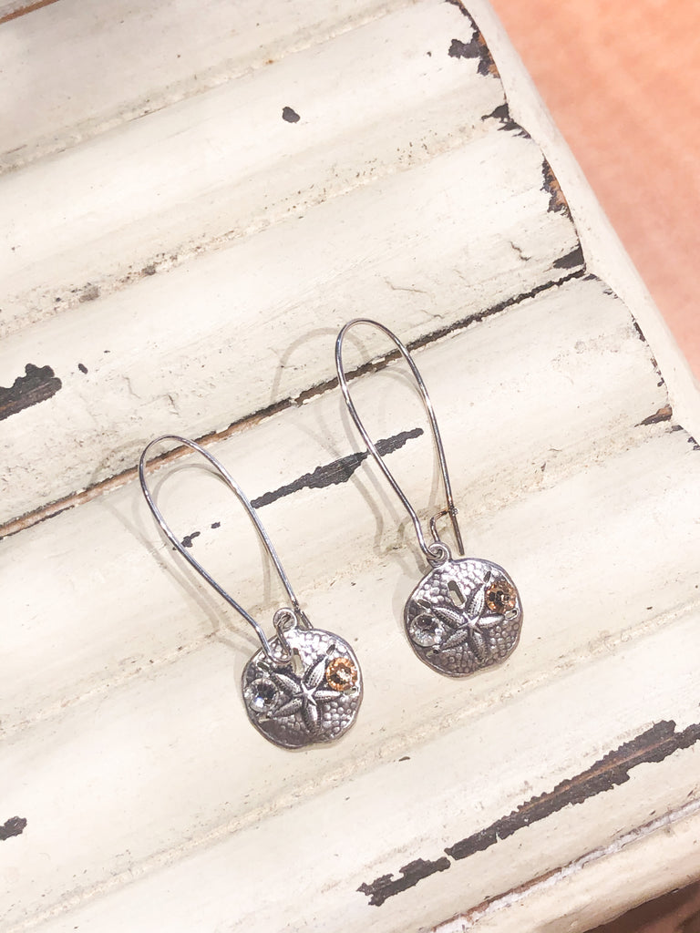 Coast2Coast Gemstone Sanddollar Dangle Earrings