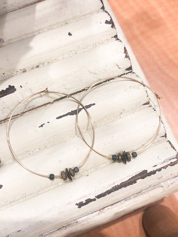 Coast2Coast Beaded Hoop Earrings
