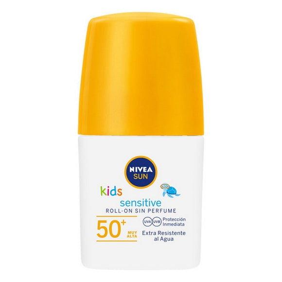 Roll-On Sun Block Sensitive Kids Nivea (50 ml)