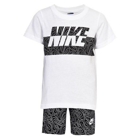 Children's Sports Outfit Nike 926-023 White Black