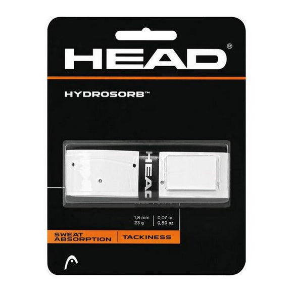 Tennis Grip Head Hydrosorb 1,8 mm Elastomer White