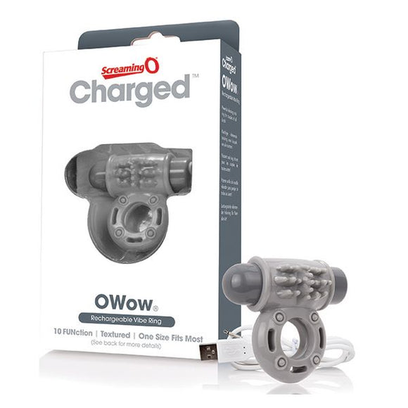 Charged OWow Vibe Ring Grey The Screaming O 12440