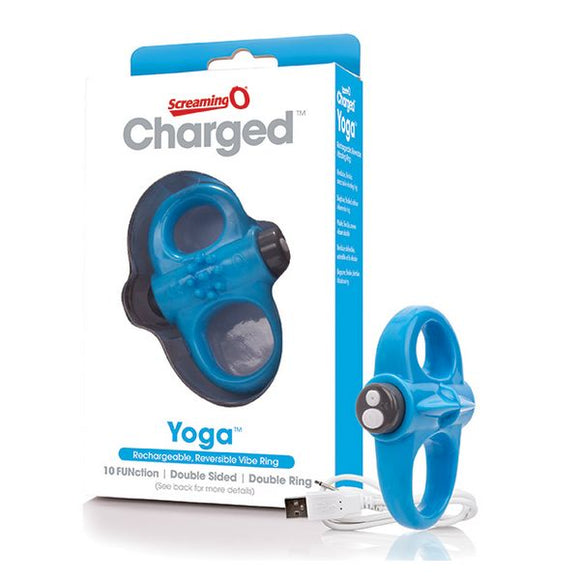Charged Yoga Vibe Ring Blue The Screaming O SCYVVBU