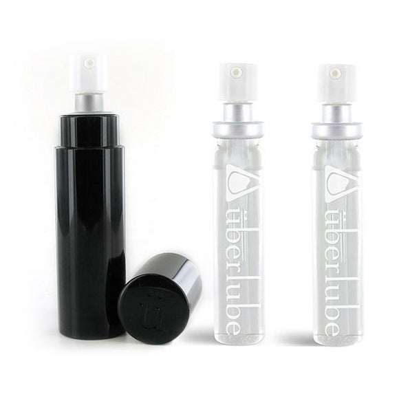 Silicone Lubricant Good-To-Go Black & Refills (3 pcs) Uberlube 3138