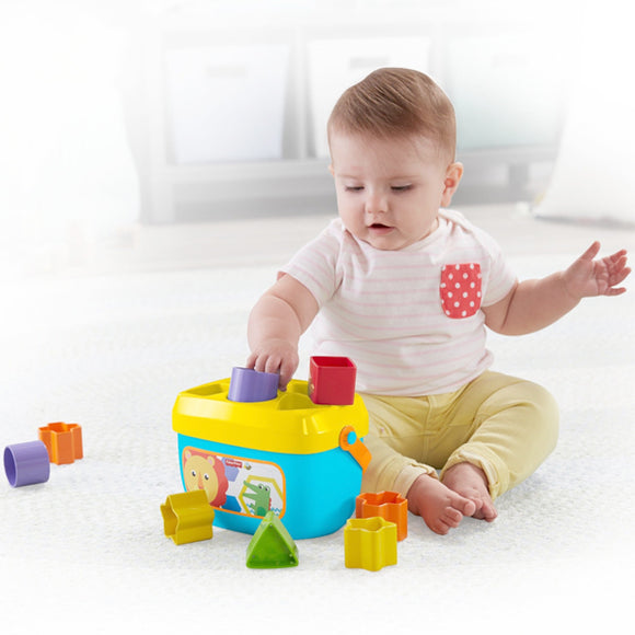 Basket with Building Blocks Mattel 10 pcs (6+ months)