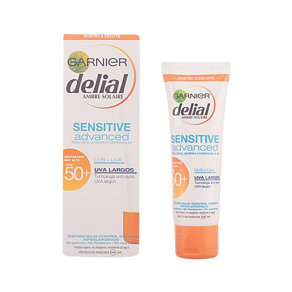 Facial Sun Cream Sensitive Delial SPF 50+ (50 ml)