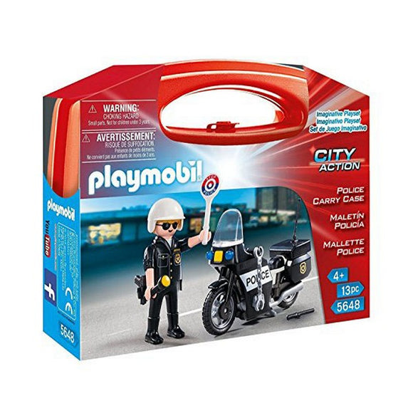 Action figure City Action Police Playmobil 5648 Black (13 Pcs)