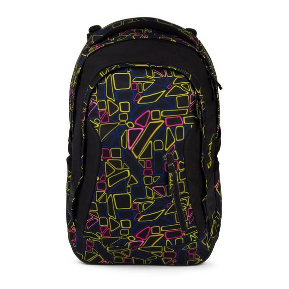 School Bag Eco Ergobag SAT-MAT-001-9K5 Black Extendable (30 X 22 x 45 cm)