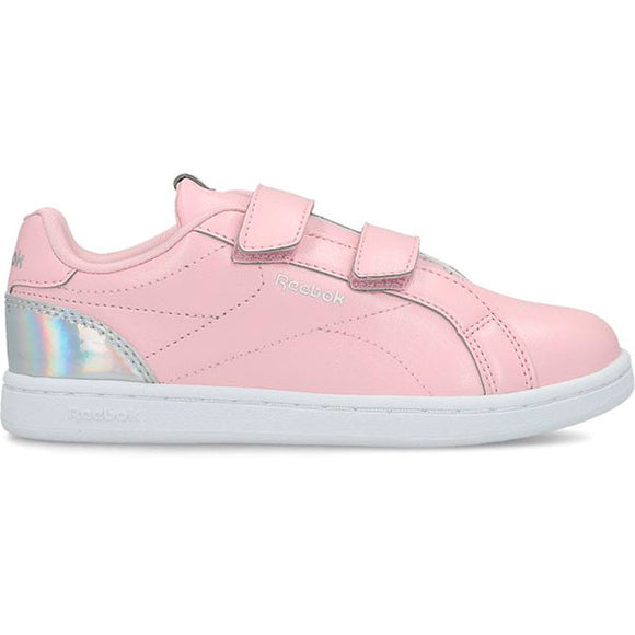 Children's Casual Trainers Reebok Royal Complete Clean 2 Velcro Pink Silver