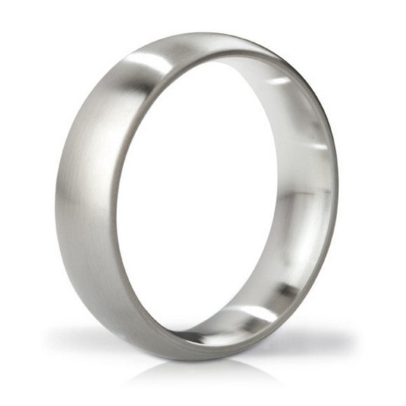 Earl Brushed Steel Love Ring Mystim