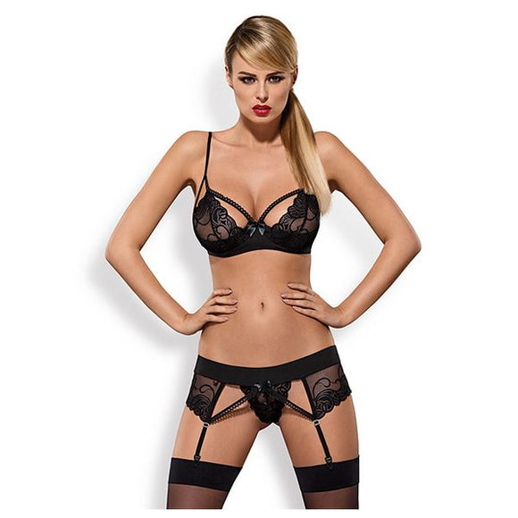 Lace Underwear Set Obsessive OB2608 (3 pcs)