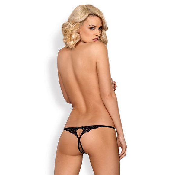 Black Lace Thong 831-thc-1 Obsessive Black (Size l/xl)