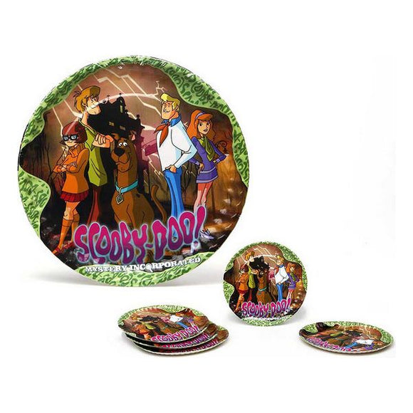 Set of 5 Plates Scooby-Doo Cardboard