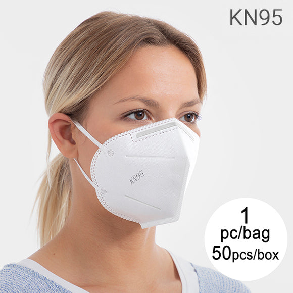 Self-Filtering Mask with 5 Layers KN95 (Pack of 50)