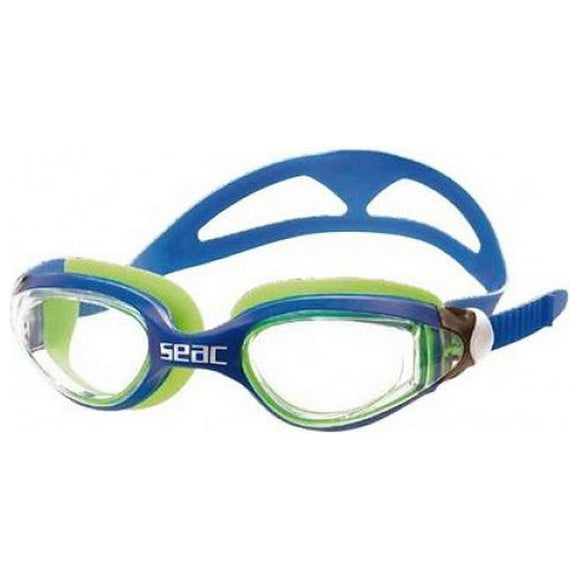 Adult Swimming Goggles Seac Occhialini Ritmo Blue Green