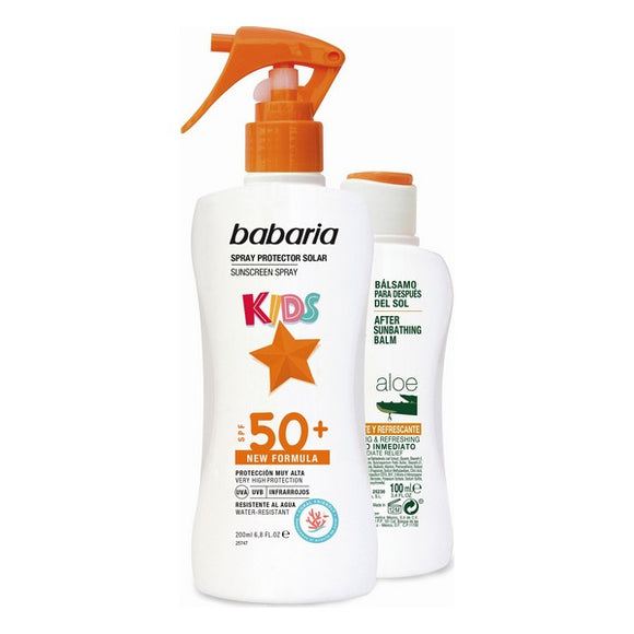 Sun Protection Set Kids Babaria Spf 50+ (2 pcs)