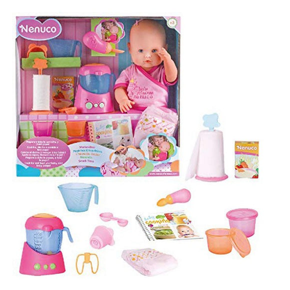 Baby Doll with Accessories Nenuco Snack Time Famosa